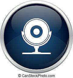 Blue webcam icon