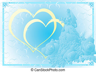 Blue wedding background