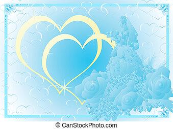 Blue wedding background