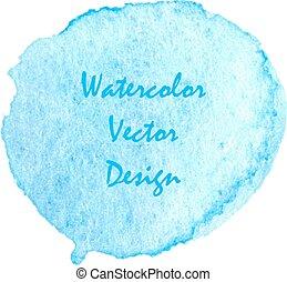 Blue wet watercolor dot for banner