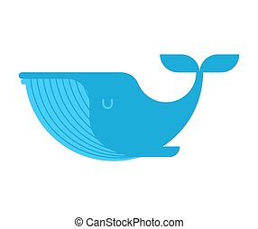 Blue Whale isolated. large mammal under water. Vector illustration