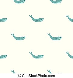 Blue whale pattern seamless