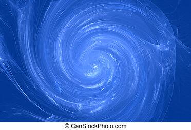 Blue whirlpool