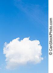 blue white ég, felhő