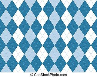 Blue white argyle seamless pattern