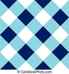 Blue White Diamond Chessboard Background