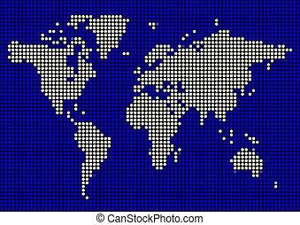 Blue White Dot Map