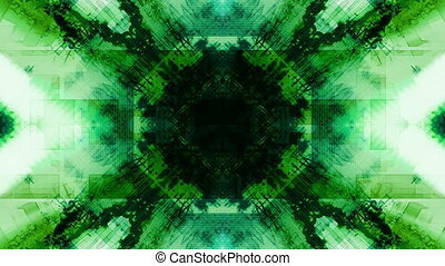Blue white green VJ geometric abstract looping background