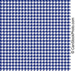 Blue-white houndstooth background -seamless
