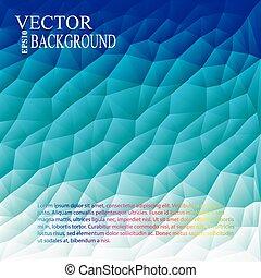 Blue White Light Polygonal Mosaic Background, Vector illustration,  Business Design Templates