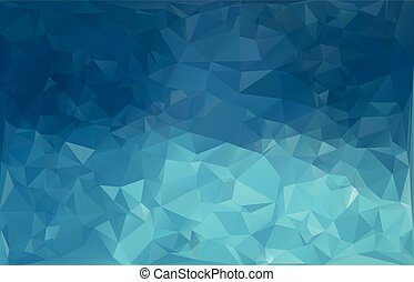 Blue White Polygonal Mosaic Background, Creative Business...