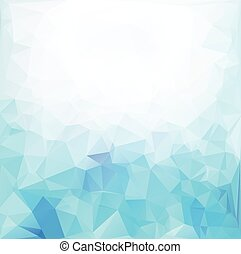 Blue White Polygonal Mosaic Background, Vector illustration,...