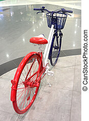 Blue-white-red bike 4, colors of the flag of France, close-up