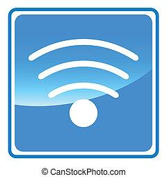 Blue wifi icon