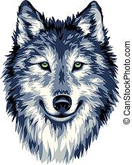 Blue wild wolf