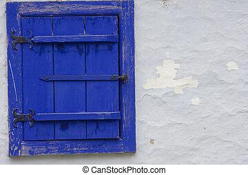 Blue Window on Wall