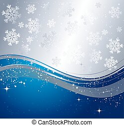 Blue winter abstract background.