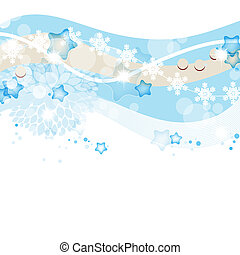 Blue winter and Christmas vector background