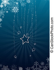 blue winter background - blue background with stars and...