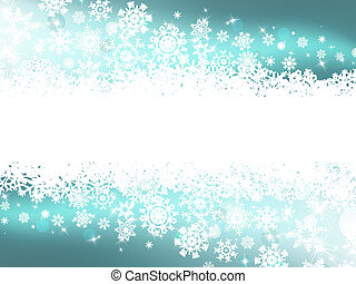 Blue winter background & snowflakes. EPS 8