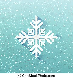 Blue winter christmas background, Snowflakes on blue background, Xmas, New year, Vector