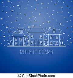 Blue winter Christmas design