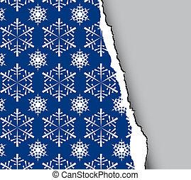 christmas tear paper - Blue winter - christmas tear paper