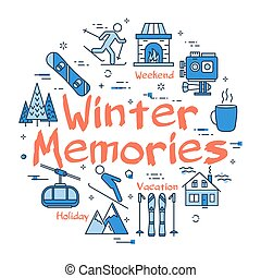 Blue Winter Memories Concept