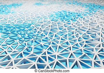 Blue wireframe background