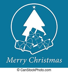 blue wishes with text - christmas tree and gifts