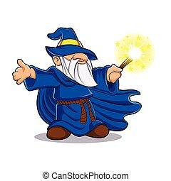 Blue wizard?cartoon