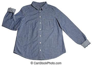Blue women jeans shirt