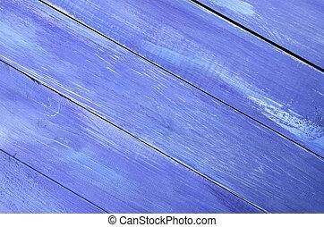 Blue wood background.
