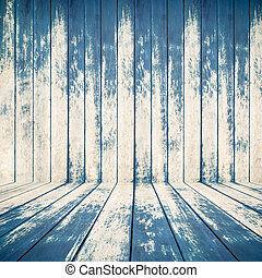 blue wood texture of rough fence boards background