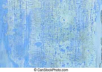 Blue Wooden wall.