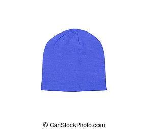 blue woolen winter hat