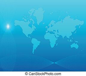 Blue world background