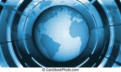 Blue World Globe.