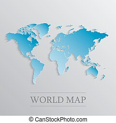 Blue World map