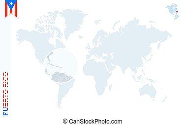 Puerto rico map vector illustration, scribble sketch puerto rico.