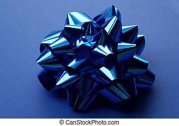 Blue Wrapping Bow