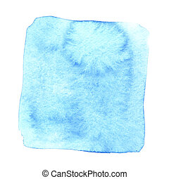 Blue wry watercolor square