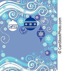 Blue xmas card