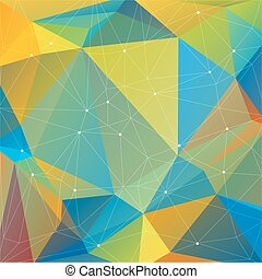 blue yellow background - Polygonal abstract background with...