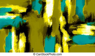 blue yellow black white painting