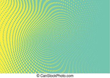 Blue-yellow Halftone dotted background. Pop art style. Retro pattern with circles, dots
