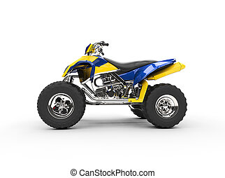 Blue Yellow Quad Side View