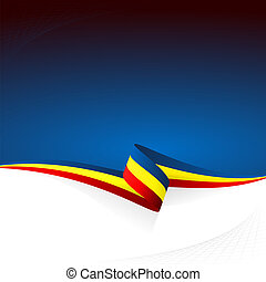 Blue yellow red - Abstract color vector background Romanian...