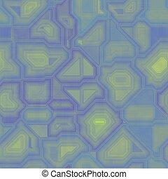 Blue, yellow seamless circuit board