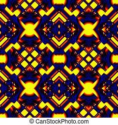 blue yellow seamless pattern